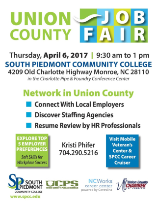 Job Fair Flier Union 2017